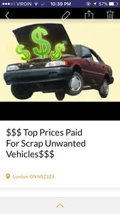 $$CASH FOR UNWANTED SCRAP JUNK CARS AND VEHICLES$$ 519-280-7060