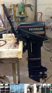 Evinrude 9.9 hp long shaft tiller