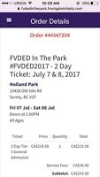 Faded in the park weekend pass