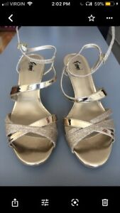 Gold prom sandals