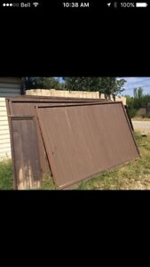 9 stained fence Panels- calls only