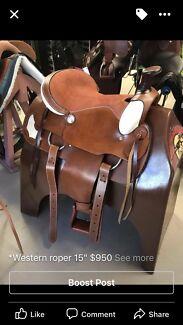 "Fort Worth roping saddle 15"""