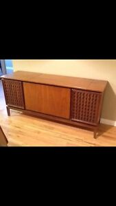 Vintage STEREO CABINET from 60's, excellent furniture