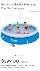 Bestway 10' Above Ground Pool with Filter Fortitude Valley Brisbane North East Preview