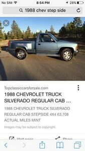 Wanted 88-98 chev stepside 4x4