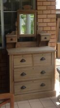 OLD VINTAGE DRESSER DRAWERS WITH VANITY MIRROR with TRINKET DRAWERS Croudace Bay Lake Macquarie Area Preview