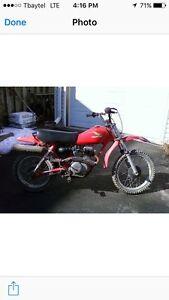 84 Honda xr 80 dirt bike