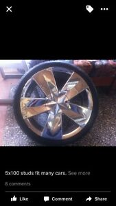 18 inch chrome 'vault' rims with tyres Toyota, Subaru, South Windsor Hawkesbury Area Preview