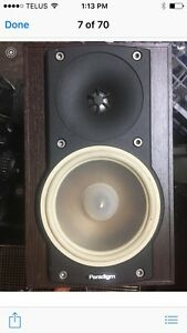 5x paradigm speakers good condition plus amp