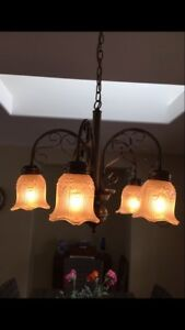 Solid Antique brass dining room light fixture