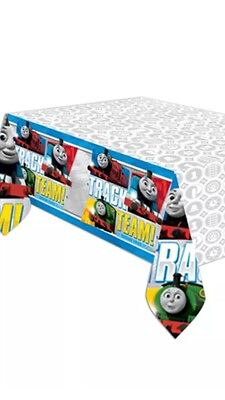 THOMAS THE TANK ENGINE BIRTHDAY PARTY PLASTIC TABLE COVER CLOTH REUSABLE