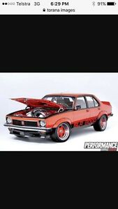 Torana wanted for leavers dinner Sheffield Kimberley Meander Valley Preview