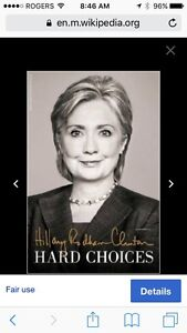 HILARY CLINTON BOOK HARD CHOICES