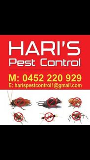 Pest Control for Cockroaches, fleas..Paramatta area