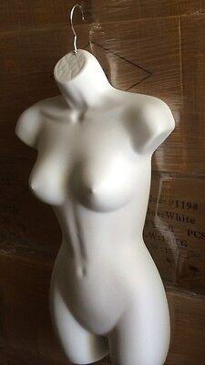 New Premium Quality White Female Torso Hanging Mannequin Dress Form Display
