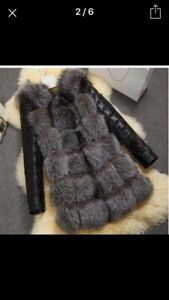 3/4 length fur coat.
