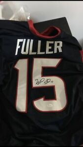 Will Fuller signed jersey with certification