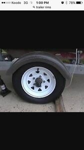 wanted trailer rims and tires
