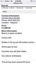 Laser sailing boat Yeppoon Yeppoon Area Preview
