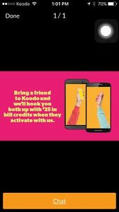 """Koodo """" Referral link to get $25 off from your balance """" Cambridge Kitchener Area image 1"""