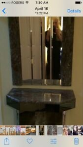 Beautiful Marble Mirror/Console In Excellent Condition