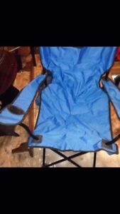 Baby Blue Fold up Chairs with cup holders