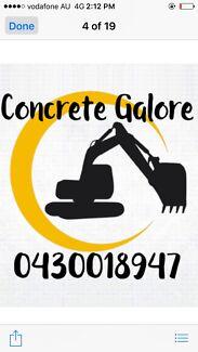 Concrete Galore Excavation &concrete services