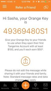 Earn $50 free -Sign up with Tangerine