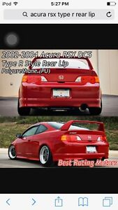 2002-2004 Acura rsx type r style rear lip