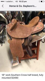 "Southern Cross work saddle 18"""