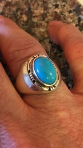 Vintage heavy sterling ring