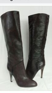BCBG brown  python leather boots