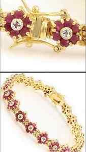 Gold Diamond & Ruby Bracelet Tamworth Tamworth City Preview