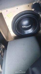 "2 12"" ct sounds stratos in custom box VERY LOUD!"