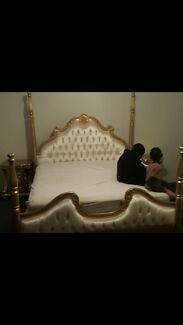 King bed French gold handmade brand new rrp 5k