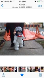 Handmade Stay Puft Halloween Costume.  Can be adapted for ages