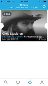 Chris Stapleton March 25 - Edmonton