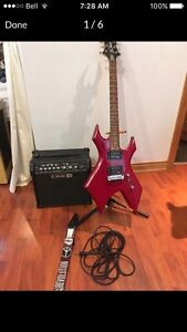Warlock with line 6 amp. Almost new