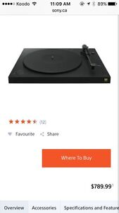 Sony stereo turntable ststem