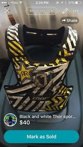 Black and yellow thor chest protector