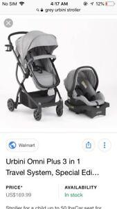 3in1 used urbini stroller