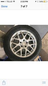 Winter tires & rims Good Year 215/60R16 from Passat