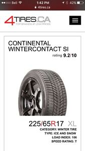 4 Continental Winter Contact SI Tires St. John's Newfoundland image 2
