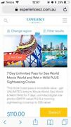 7 day unlimited pass for sea world, movie world, wet n wild AND CRUISE Rose Bay Eastern Suburbs Preview