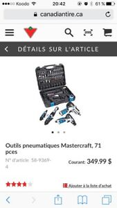Kit outil pneumatique mastercraft