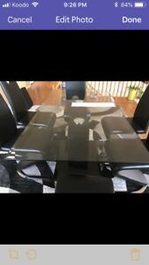 Modern glass table  6 seater