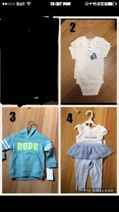 NWT boys and girls baby/toddler clothing