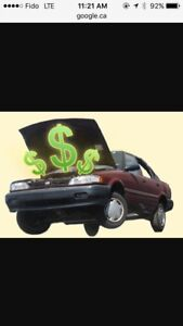 Up to $10,000 Cash for ur Unwanted vehicle (416)262-0827