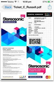 Stereosonic tickets Hayborough Victor Harbor Area Preview