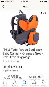 PHIL&TED PARADE BABY CARRIER *salmonArm*